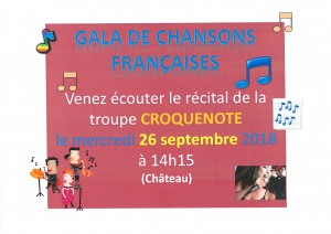 Spectacle Croquenote 260918